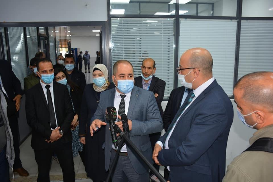 Visite Du Ministre de la Poste et des Télécommunications au niveau du Centre de Tri National de Birtouta.